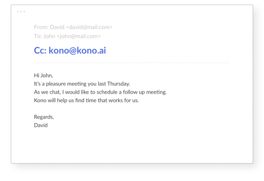 Kono for email - How to use?